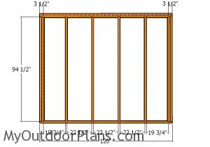 Tall side wall - Frame