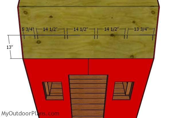 The layout for the rafters