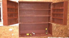 DIY Wall Hung Utility Cabinet