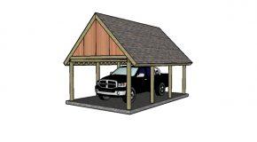 16×22 Single Carport Plans