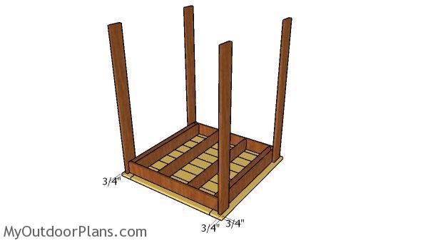 Assembling the bar table
