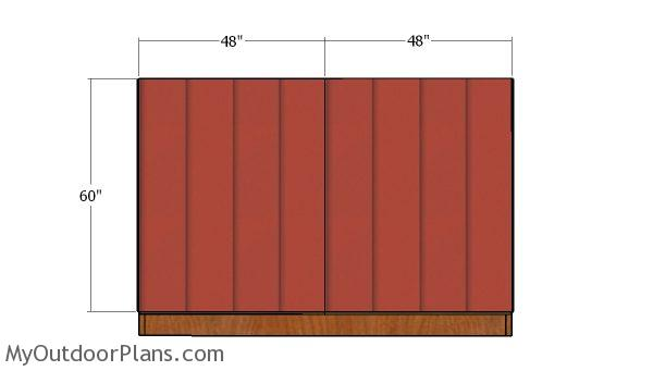 Back wall - siding