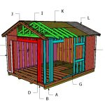12×16 Gable Storage Shed Roof Plans