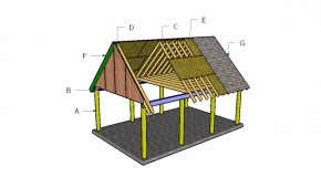 16×22 Carport Gable Roof Plans