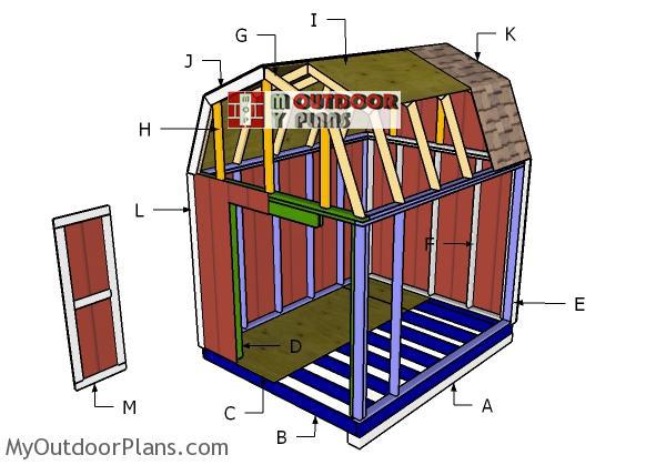 Building-a-8x10-gambrel-shed