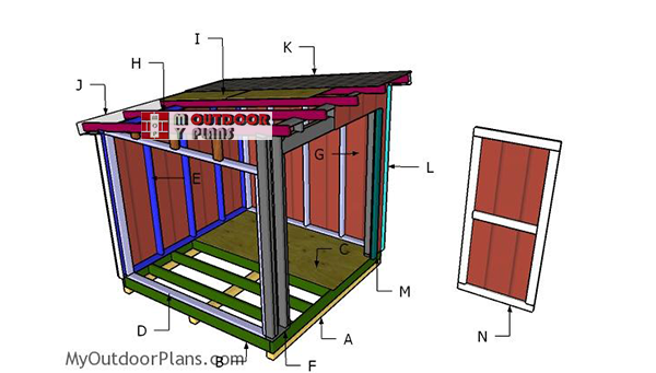 Building-a-8x8-lean-to-shed
