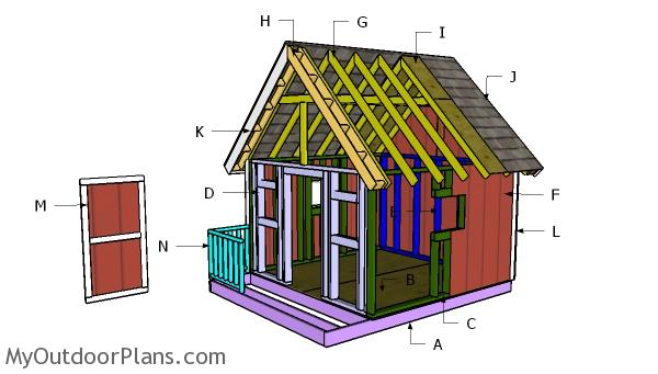 8x8 Playhouse Roof Building Plans