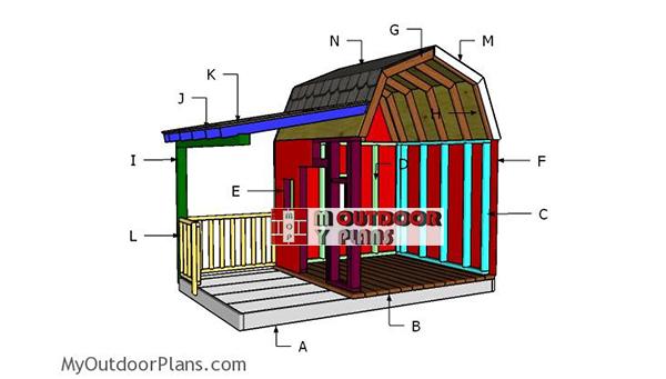 Building-a-barn-playhouse
