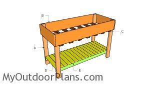 Building a counter height garden box