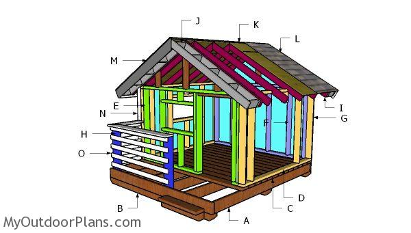 Diy playhouse roof plans myoutdoorplans free