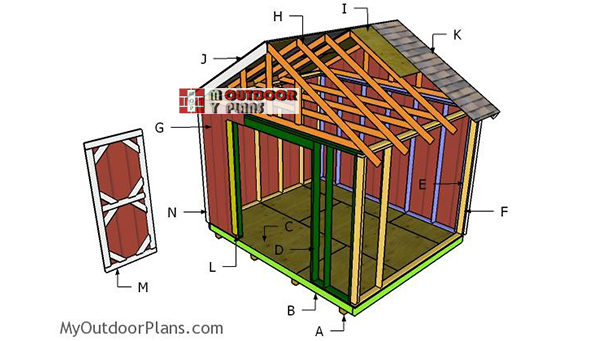 Building-the-12x10-gable-shed