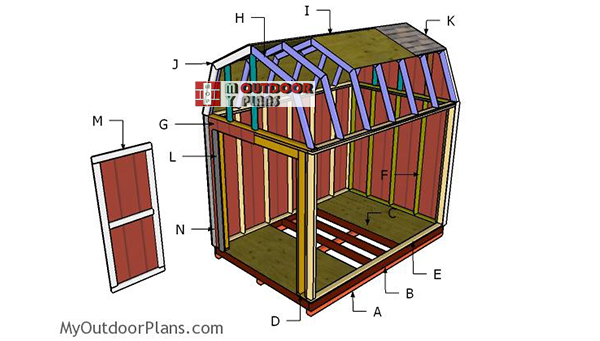 Building-the-8x12-gambrel-shed