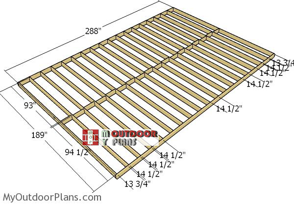 Building-the-floor-frame-16x24-gambrel-shed