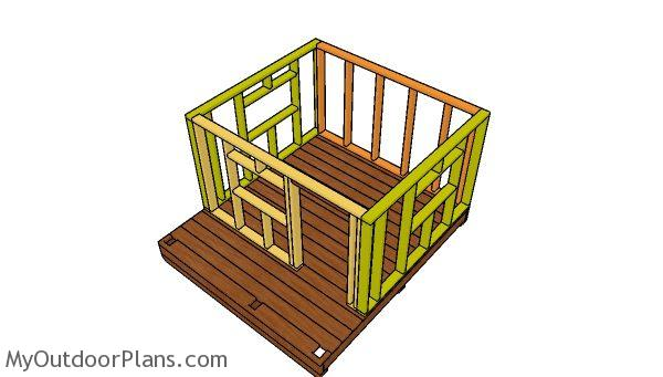 Building the frame of the playhouse