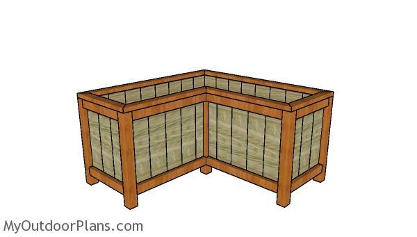 Corner Planter Box Plans