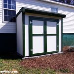 DIY 4×8 Lean to Shed with Double Doors