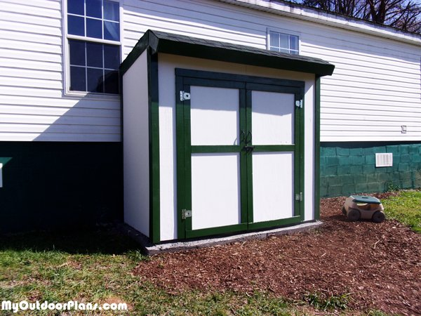 DIY 4x8 Lean to Shed with Double Doors