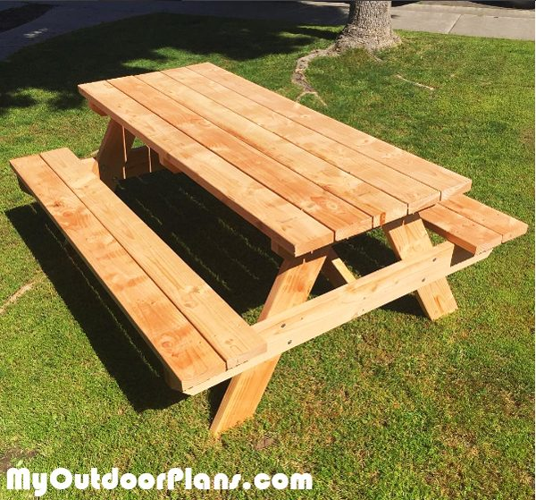 6 foot Picnic Table | MyOutdoorPlans | Free Woodworking ...