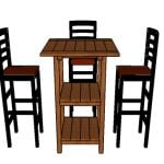 Wooden Bar Table Plans