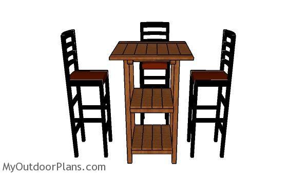 DIY Bar Table Plans