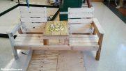 DIY Double Chair Garden Bench