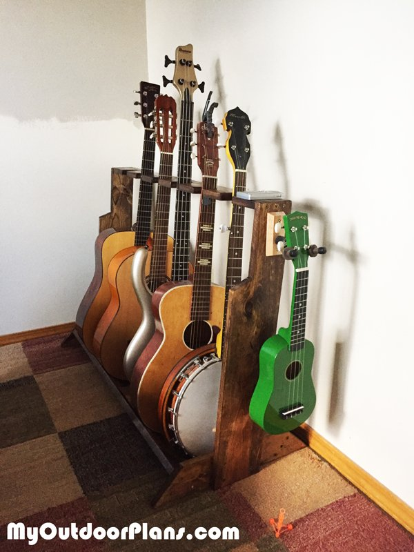 DIY Multi Guitar Wood Stand