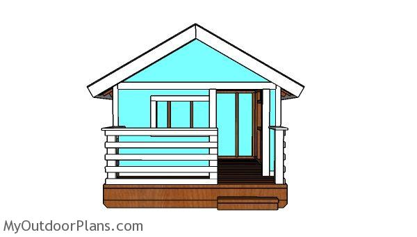 DIY Playhouse Plans - Front view