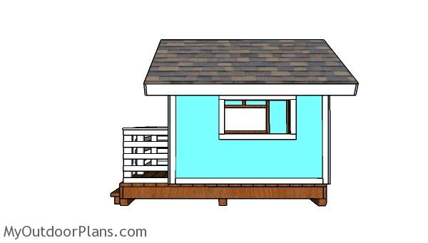 DIY Playhouse Plans - Side view