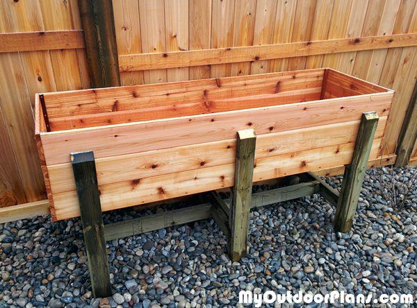 Diy Waist High Raised Garden Bed Myoutdoorplans Free