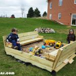 DIY Wood Sandbox with Cover
