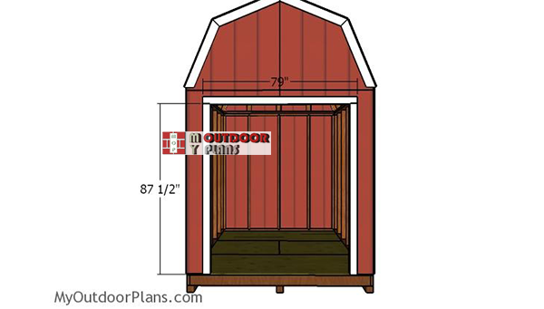 Door-jambs-gambrel-shed