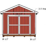 12×16 Storage Shed Doors and Trims Plans