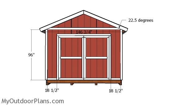 12x16 Storage Shed Doors and Trims Plans