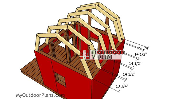 Fitting-the-trusses-barn-playhouse