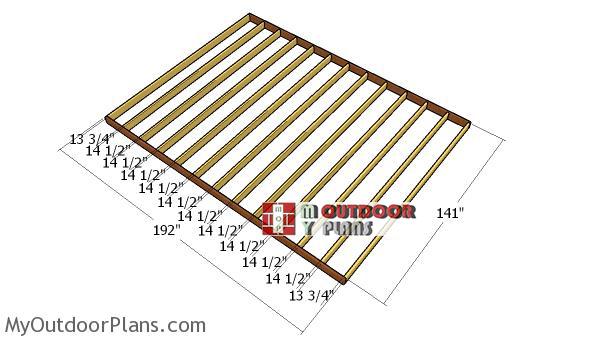 Floor-frame---12x16-shed