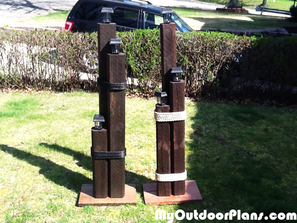 DIY Nautical Lamp Post