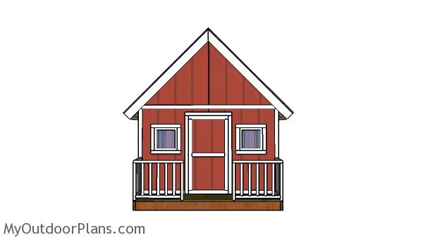 8x8 Playhouse Railings Building Plans