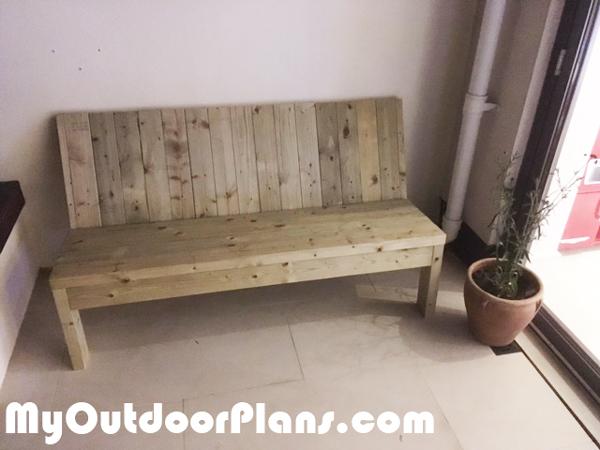 DIY 2x4 Garden Bench