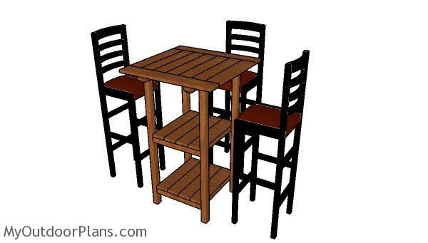 Wood Bar Table Plans