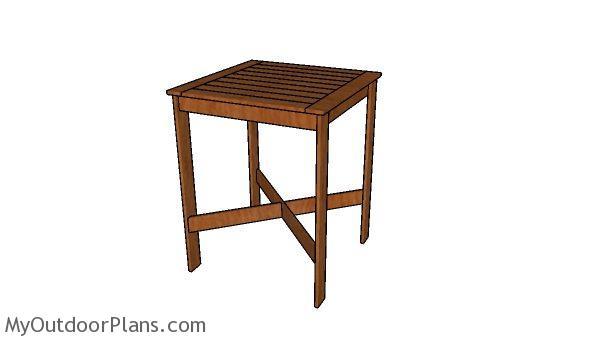 Wood Bar Table Plans