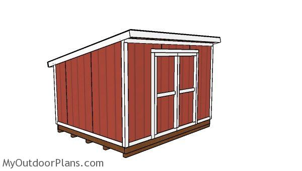 10x12 Lean to shed Plans. 10x12 Lean to Shed Plans   MyOutdoorPlans   Free Woodworking Plans