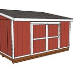 10×16 Lean to Shed Plans