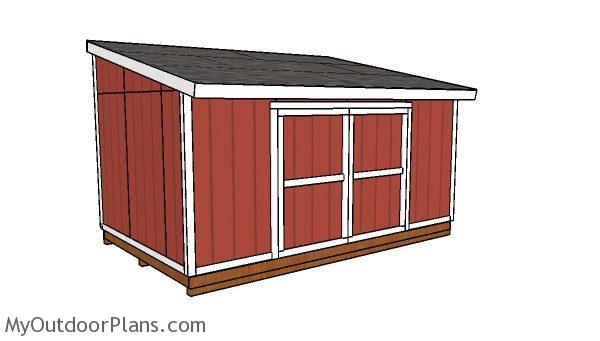 10x16 Lean to shed Plans
