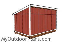 10x16 Lean to shed Plans - back view