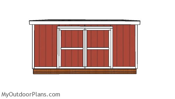 10x16 Lean to Shed Doors Plans