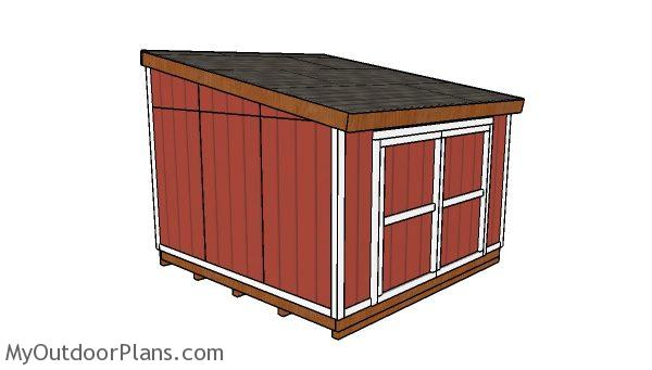12x12 Lean To Shed Plans Myoutdoorplans Free Woodworking Plans
