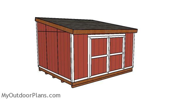 12x14 Lean to shed Plans