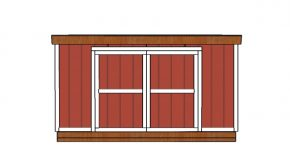 12×14 Lean to Shed Doors Plans
