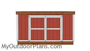 12x14 Lean to shed Plans Free