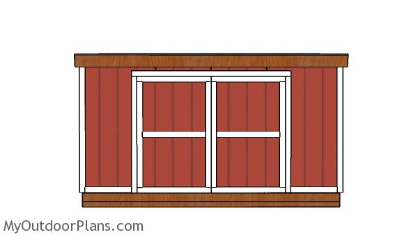 12x14 Lean to Shed Doors Plans